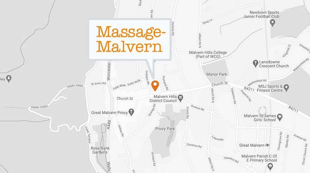 Massage malvern map