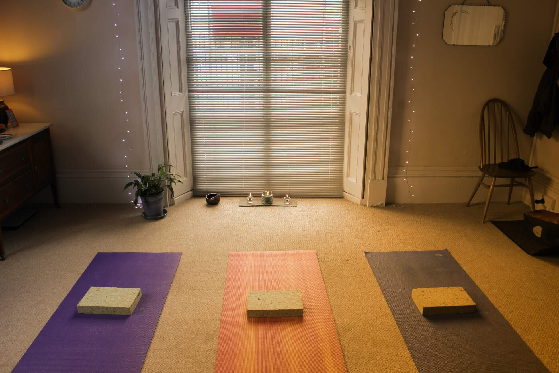Yoga studio and mats 2